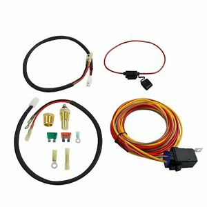 Dual Electric Fan Cooling Wiring Install Kit 165 185 Thermostat 40 Amp Relay