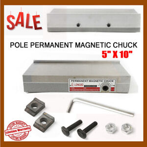 45mm Permanent Magnetic Chuck For Grinding Machine 5 x10 With Accessories Usa