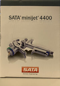New Sata Minijet 4400 B Rp 1 0 W Rps Disposable Cups Hvlp Mini Detail Spray Gun
