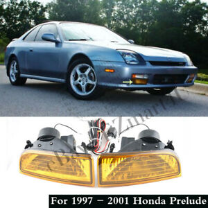 For 1997 1998 1999 2000 2001 Honda Prelude Yellow Fog Lights Bumper Lamps switch