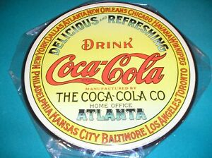 COCA COLA ADVERTISING METAL SIGN - MADE IN THE USA & AUTHORIZED BY COCA-COLA