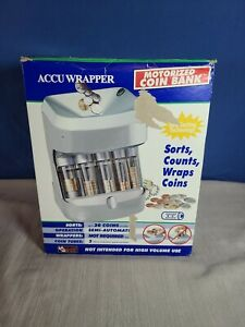 Accuwrapper Motorized Coin Sorter Wrap Bank Magnif Seperate Roll Wrapper