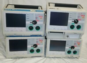 Lot Of 4 Zoll M series Biphasic Monitor 3 Lead Ecg Aed Pacing Analyze