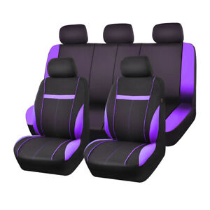 Car Pass Car Seat Cover Purple Mesh Universal For 40 60 60 40 50 50 Split Bench