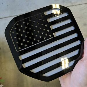 American Flag Badge Fits 2019 2020 Dodge Ram Tailgate Black On Gray