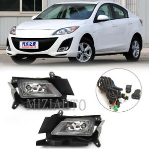 For 2010 2011 Mazda 3 Bumper Fog Lights Driving Lamps W Switch Left Right Set