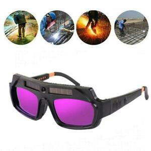 Solar Powered Auto Darkening Welding Mask Helmet Eyes Goggle Welder Glasses F8f4