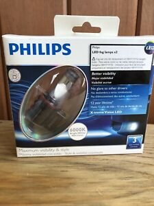 Philips Led 2 Fog Lamps Replacement H8 H11 H16 Halogen 12v 6000k Bright White