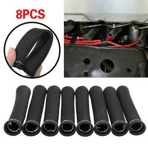 8 Pcs 2500 Spark Plug Wire Boots Protector Sleeve Heat Shield Cover For Ls1 Ls2