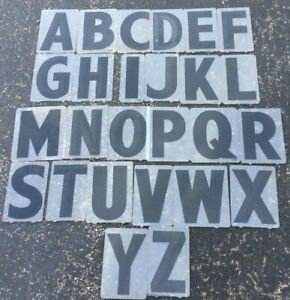 Vintage Black 6 E z Marquee Sign Letters