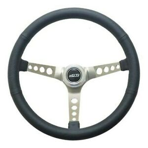 Gt Performance Steering Wheel Retro Leather Stainless Spokes 35 5445