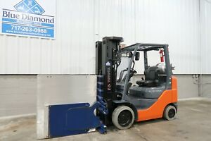 2017 Toyota 8fgcu25 5 000 Cushion Tire Forklift 240 Quad Mast 605 Hours