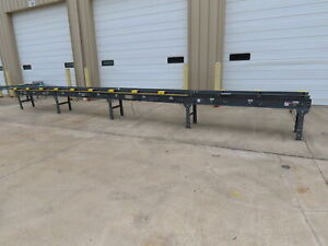 30 X 14 Wide Modular Power Roller Conveyor W plc Speed Control 29 34 Adj Hgt