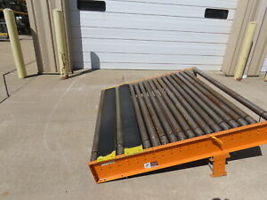 Versa Power Live Roller Case Pallet Conveyor 60 x 63 Section Line Shaft Connect
