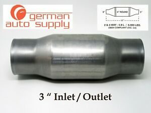 3 Universal Catalytic Converter New 271300 410300 German Auto Supply