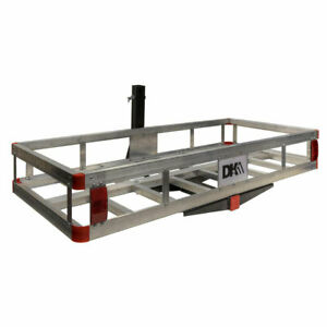 Detail K2 500 Pound Trailer Hitch Mounted Aluminum Cargo Carrier Rack Used