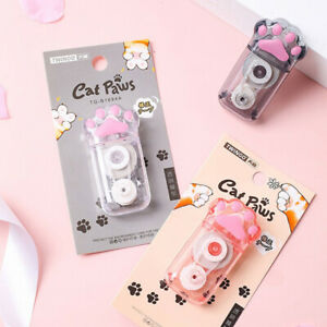 White Out Cute Cat Claw Correction Tape Pen School Office Supplies