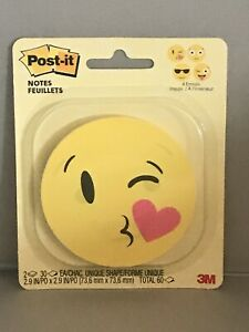 Post it Notes 4 Emojis Inside 2 Notepads 30 Ea 60