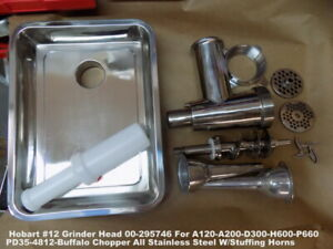 Hobart 12 Stainless Steel Grinder Head For A120 a200 d300 h600 p660 Mixers Pd35