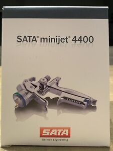New Sata Minijet 4400 B Rp 1 2 W Rps Disposable Cups Hvlp Mini Detail Spray Gun