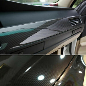 Car Sticker 7d Carbon Fiber Vinyl Foil Film Decal Black Waterproof Auto Parts