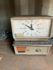 Vintage Acroprint 125rr4 Bx Time Recorder Manual Punch Card Clock