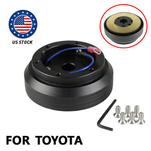 Us Stock Thin Version 6 Hole Steering Wheel Hub Adapter Boss Kit For Toyota