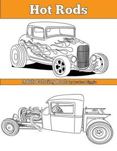Hot Rods Adult Coloring Book 20 Meticulously Hand drawn Illus brand New