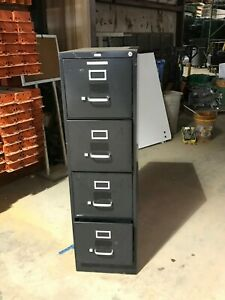 Used 4 Drawer Black Filing Cabinet 27 X 53 X 15