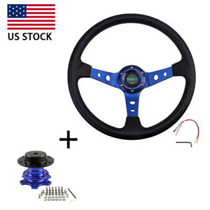 13 5 Steering Wheel With Quick Release Adapter Boss Kit For Modified Car