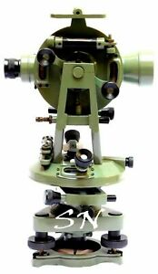 Brass 15 Theodolite transit Surveyors Alidade Vintage Surveying Instrument