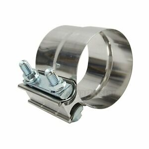 2 5 Stainless Steel Exhaust Band Clamp Clamps Lap Joint 2 1 2 Inch