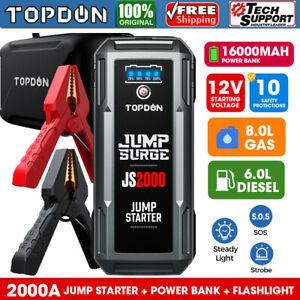 Car 2000a Jump Box Start Dead Battery Starter Charger Booster 20800mah Powerbank