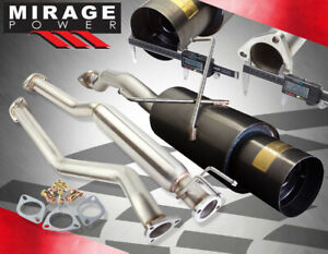 For 01 05 Honda Civic Ex 2 4dr Sedan Coupe 2 5 Gunmetal Catback Exhaust System