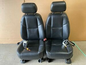 2011 Chevy Avalanche Ltz Silverado Front Leather Bucket Seats Heated And Cooled