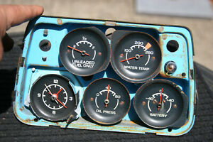 68 74 Corvette Vintage Gauge Cluster Clock Oil Amp Fuel Water Temperature