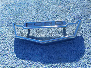 1963 Ford Fairlane 500 Rear Trunk Gas Door Chrome Emblem