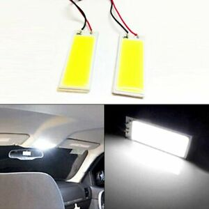 2x T10 36 Cob Led Super White Dome Map Light Bulbs Car Interior Panel Lamps 12v