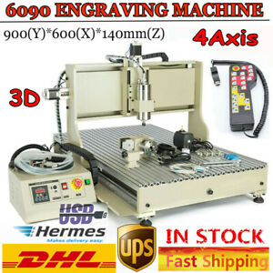 Cnc 6090 4 Axis Usb Port Router Milling Engraving Diy 24 x36 Cutting Machine 3d
