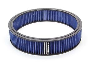 Edelbrock Air Filter Element Blue 14in X 3in 43667