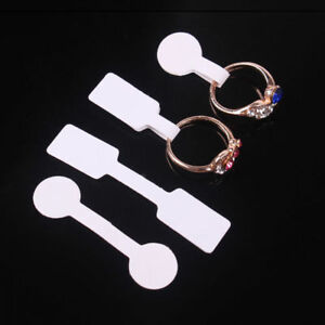 100pcs Blank Adhesive Sticker For Ring Necklace Jewelry Display Price Label Tags