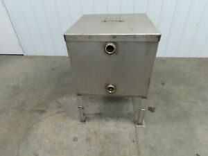 Stainless Steel 50 Gallon Double Wall Insulated Tank On Legs
