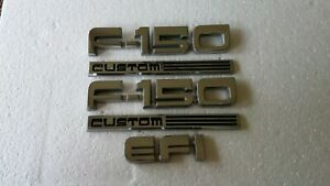 1987 1991 Ford F 150 Emblem Set Left Right Fender Custom Efi