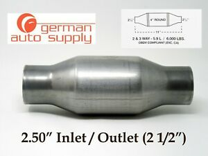 2 50 Universal Catalytic Converter New 271250 410250 German Auto Supply