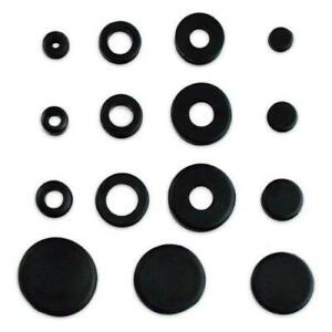 Rubber Grommet Solid Plug Assortment Solid Automotive Airplane Seal Hole 125 Pcs