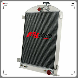 4 Row Aluminum Radiator For 1935 1936 Ford Model A 28 Stock Height Gm Chevy V8