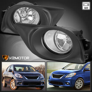 For 2012 2013 2014 Nissan Versa 1 6s 1 6sl 1 6sv Clear Fog Lights Lamps Switch