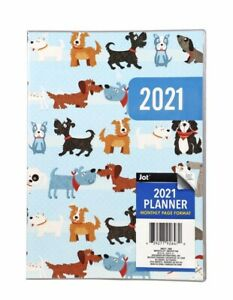 2021 Monthly Planner Organizer Agenda Appointment Book Calendar 7 X 9 5 Dogs