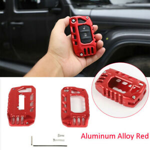 Alloy Key Case Cover Shell Protector Accessories For Jeep Wrangler Jl Jt 2018
