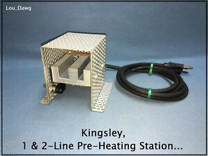Kingsley Machine 1 2 line Pre heating Station Hot Foil Stamping Machine